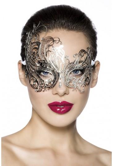 Glamour kovová škraboška s kamienkami