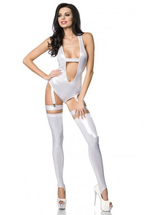 Hot gogo silver body set in metallic look