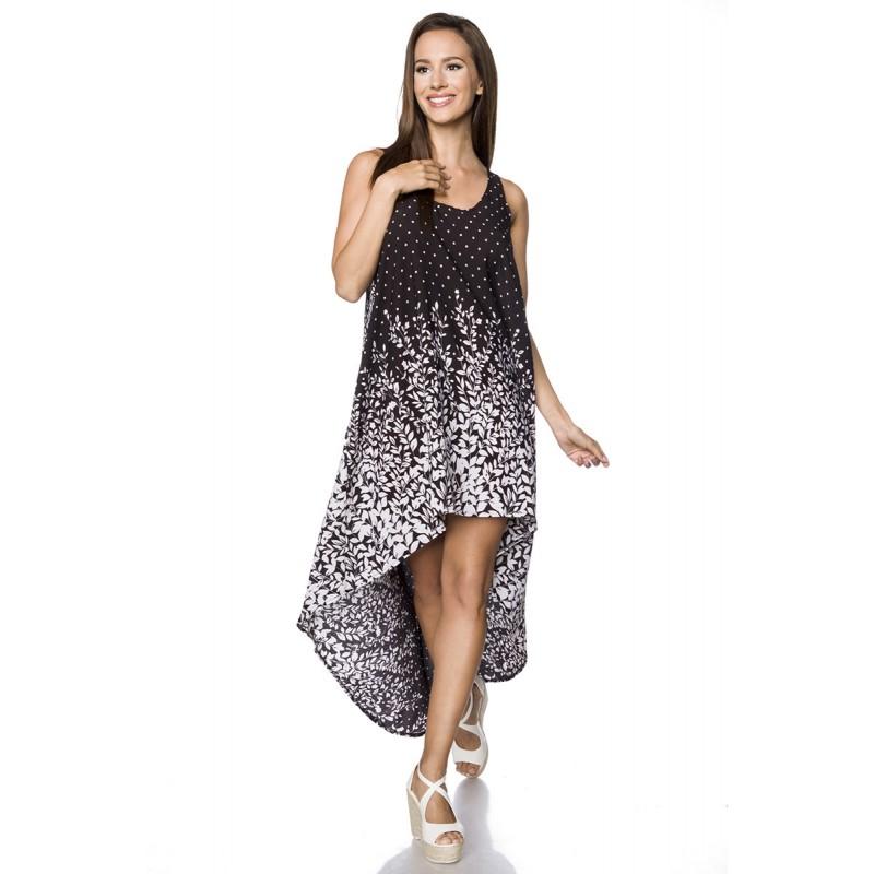 Bohémske voľnočasové asymetrické šaty - SELECTAFASHION.COM 665341c1a7