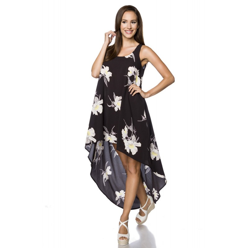 d7d2ae22cd22 Bohémske voľnočasové asymetrické šaty - SELECTAFASHION.COM