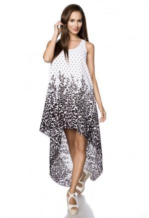 Bohémske voľnočasové asymetrické šaty