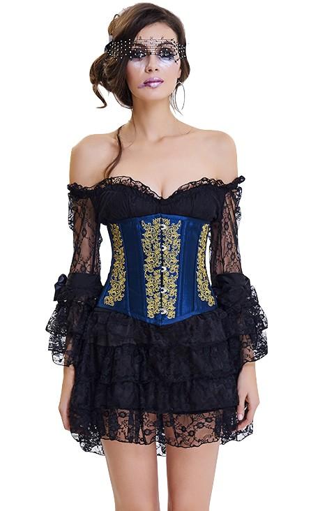 7117828e92 Vintage royal brocade corset under breast - SELECTAFASHION.COM