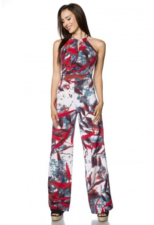 Loose fit floral summer jumpsuit