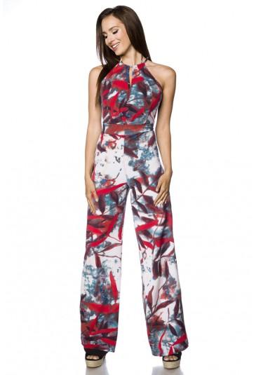 Loose fit floral summer jumpsuit