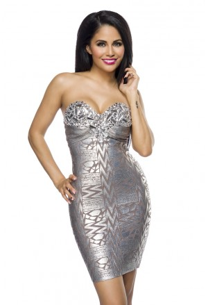 Silver bandage dress SILVER EYE