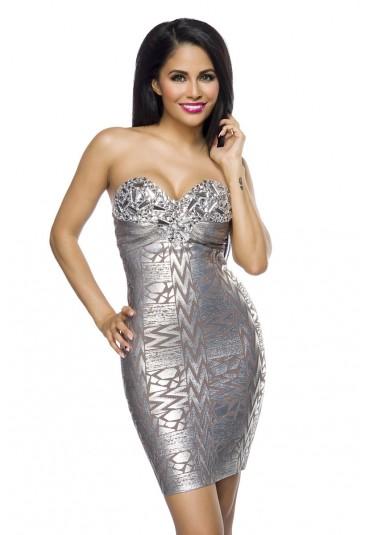 Silver bandage dress SILVER EYE