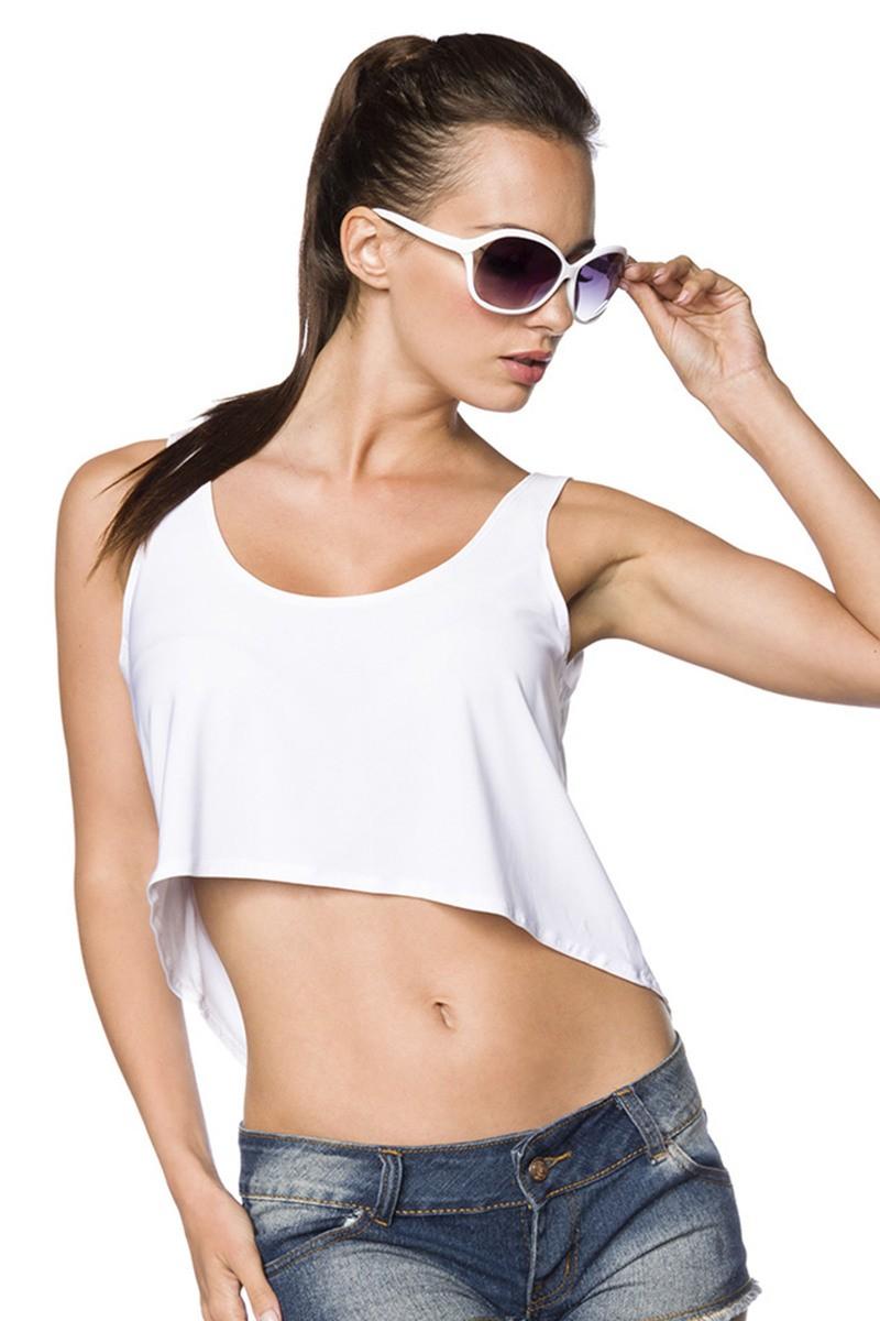 a0e884c345ca Letné hippies tričko na ramienka - SELECTAFASHION.COM
