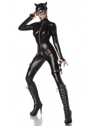 Exkluzívny čierny sexi kostým Catwoman