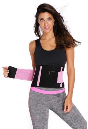 Sport Gym Pink Waist Trainer Belt Body Shaper for Hourglass Shape