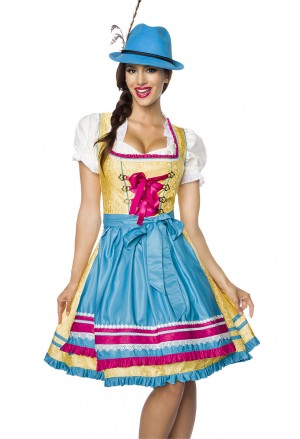 Beatiful multicolor Jacquard folk dress costume