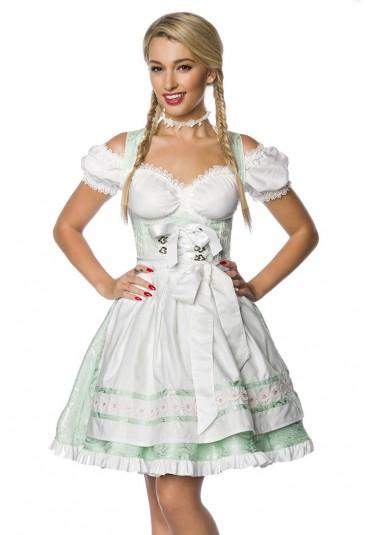 Traditional folk dirndl dress with apron