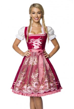 Noble modern folk costume dress with apron