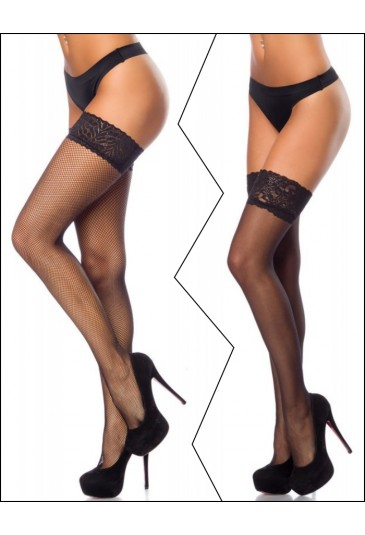 Black lace stockings - 2 pieces for bulk price