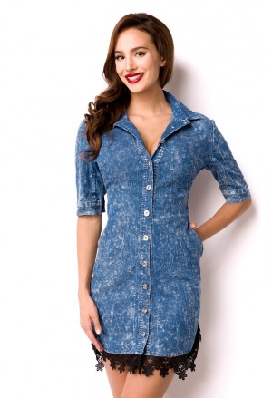 Sweet summer jeans dress blouse