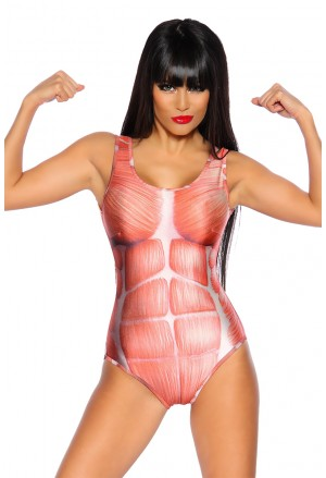 Muscles bodysuit - one piece swimwear