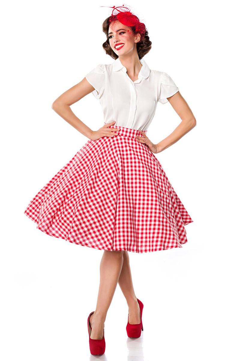 6f1d655ee Rockabilly tartan Grease wide skirt Belsira - SELECTAFASHION.COM