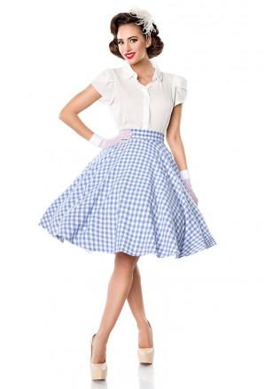 Široká pepitková retro sukňa Belsira