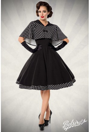 Sweet swing dress with polka cape from Belsira