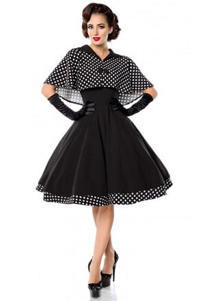 Swingové retro šaty s bolerkom Belsira