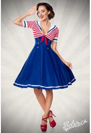Sweet marine rockabilly retro dress Belsira