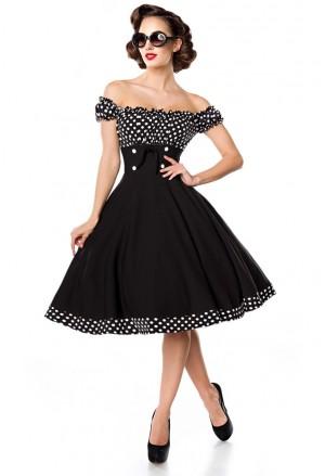 Pôsobivé čierne retro šaty a lá 50. roky