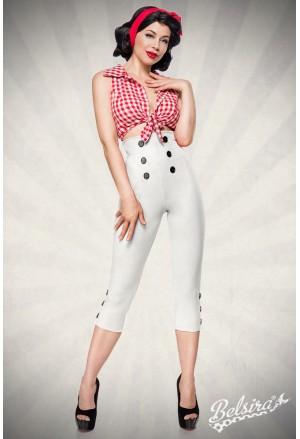 Elegant high waist retro capri pants