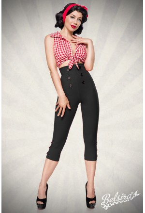 Elegant high waist retro capri pants