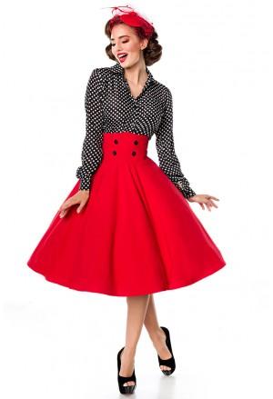 Elegantná červená spoločenská retro sukňa Belsira
