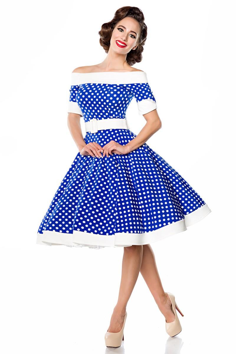 0812e62d880b Rozkošné retro šaty s bodkami Belsira - SELECTAFASHION.COM