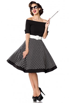 Rockabilly dress with dots skirt Belsira