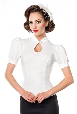 Elegantná dámska biela blúzka s krátkym rukávom