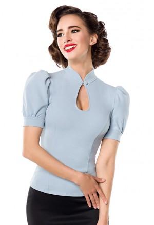 Elegantná dámska blúzka s krátkym rukávom