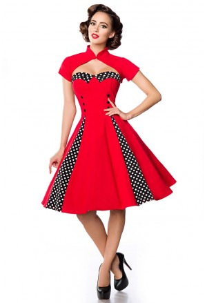 Unique swing retro dress with bolero