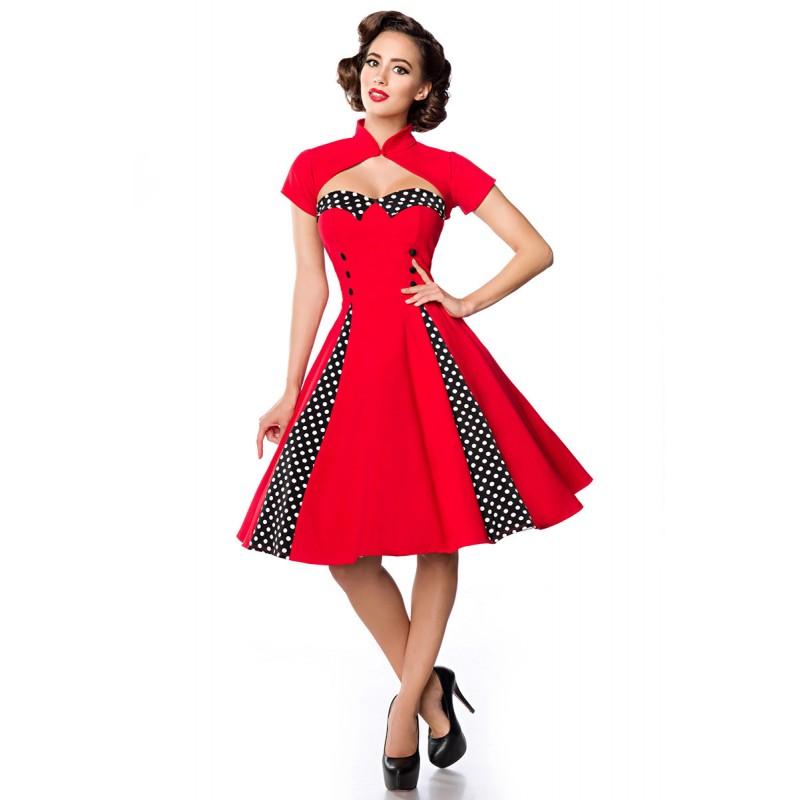 287b3469505e Jedinečné swingové retro šaty s bolerkom - SELECTAFASHION.COM