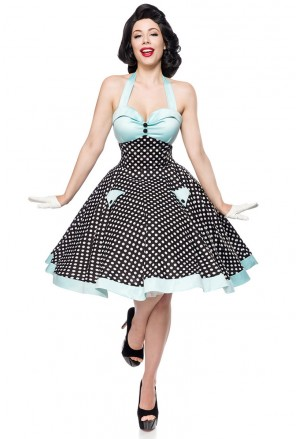 Rockabilly swing polka dress Belsira