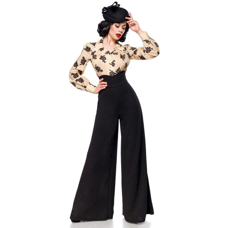 7d6d18c30d72 Široké Marlene nohavice s vysokým pásom - SELECTAFASHION.COM