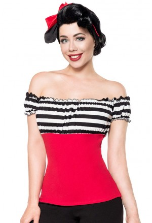 Sweet off shoulder retro top