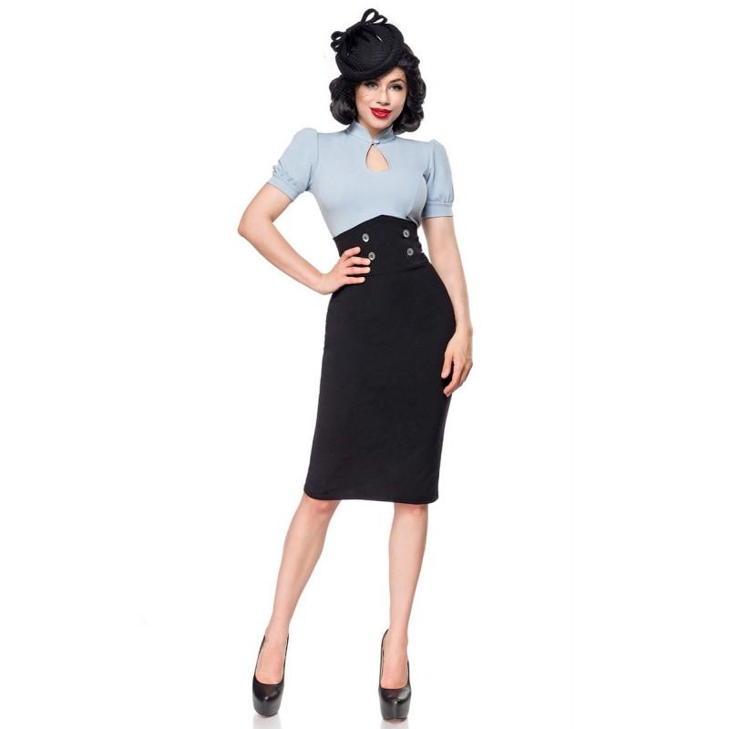 9973c4b2f83d Úzka pencil retro sukňa s vysokým pásom - SELECTAFASHION.COM