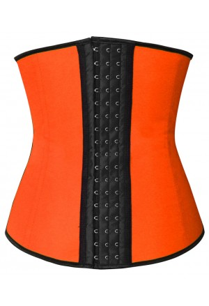 Sporty underbust latex waist training corset