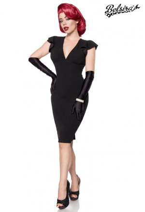 Elegant black vintage dress by Belsira