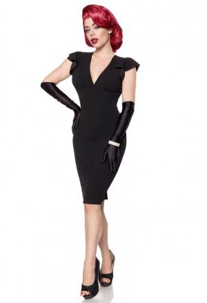 Elegantné čierne retro šaty Belsira