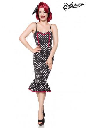 Retro styling polka dress a la Marilyn