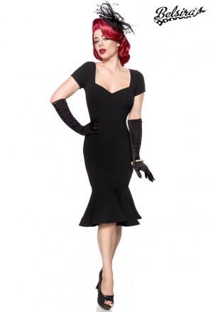 Očarujúce čierne vintage spoločenské šaty
