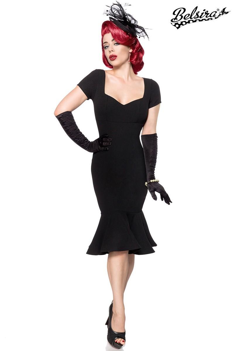 39dcf80f5310 Očarujúce čierne vintage spoločenské šaty - SELECTAFASHION.COM