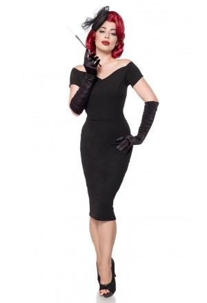 17cd180c6e2b Decentné čierne spoločenské šaty aj pre moletky
