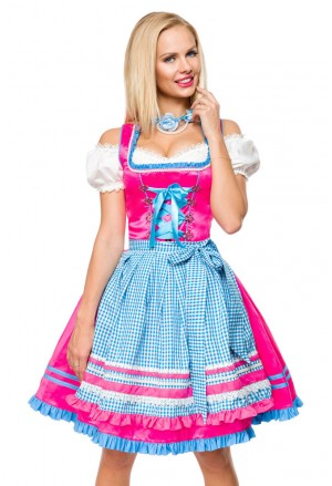 Svieže krojové šaty dirndl folkový kostým