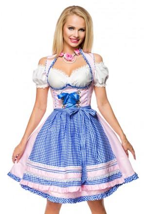 Sweet tender dirndl romantic folk costume dress