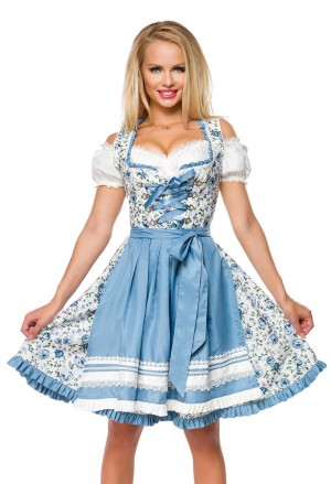 Floral bavarian dirndl folk dress in top quality