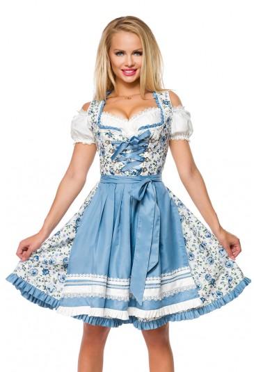 Floral bavarian dirndl folk dress in top quality