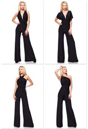 Elegant black multiway jumpsuit overall